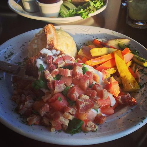 Pork chop and polenta by @MySoDotCom