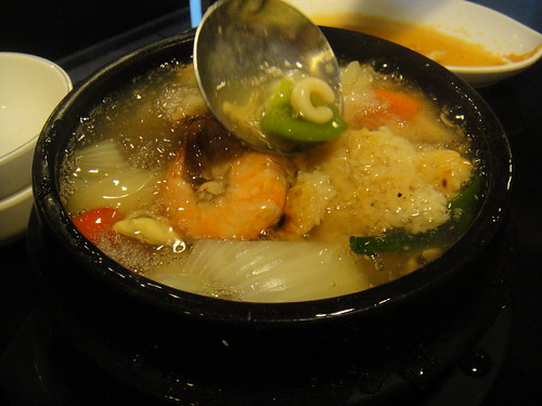 Seafood Roasted Rice Soup