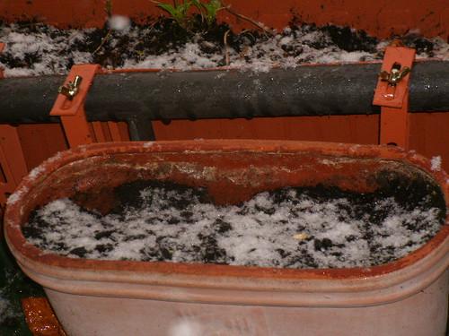 Balkon im Schnee 2