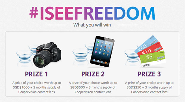 Win amazing prizes from CooperVision