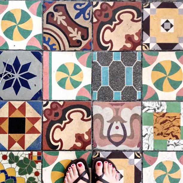 Cool tiles yesterday in Santa Monica.