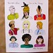 Hairstyles I've Seen on the Subway; Love, New York illustration print