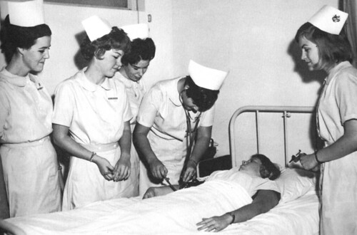 Student Nurses at Mount Saint Mary College Los Angeles CA 1966