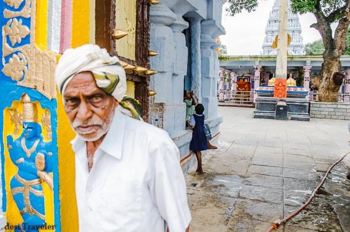 Hanuman Idol in the courtyard of Rama Temple ammapalle shamshabad