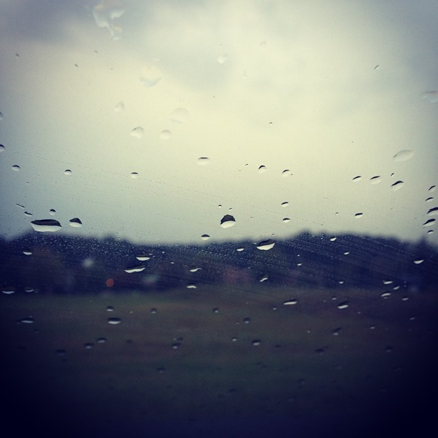 Well. It's a beautiful rainy morning for a 10-mile race.