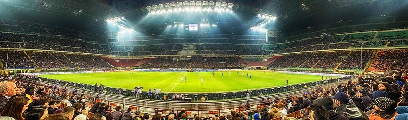 San Siro - stadion Giuseppe Meazza w Mediolanie
