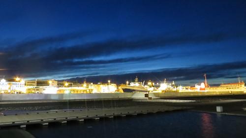 reykjavik port by night