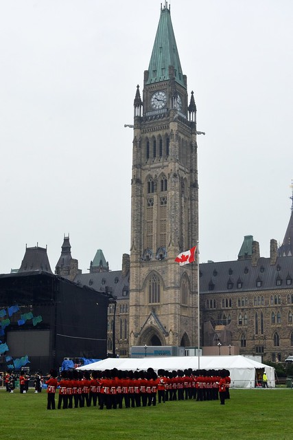 Guarding the Peace Tower