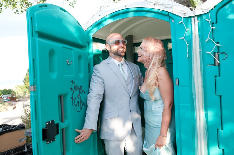 yes, that is a porta potty