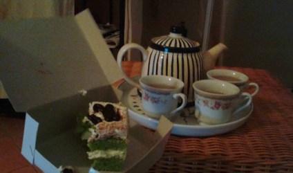 Tea cake and tea