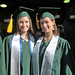 SOEST student ambassadors Laura Corley and Kimberley Mayfield at the University of Hawaii at Manoa's commencement ceremony. May 11, 2013