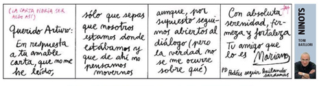 13i14 LV Toni Batllori Carta Rajoy a Mas