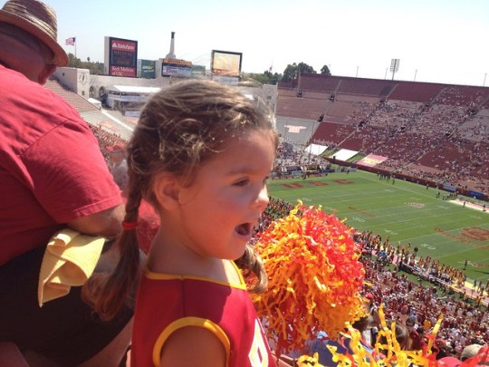 first football game - loves it