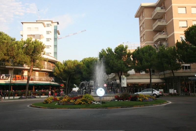 Lignano plaza, italy