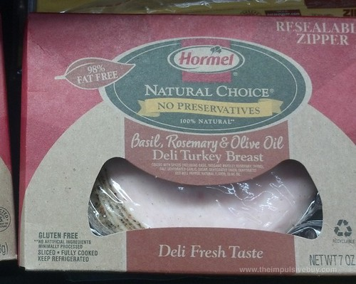 Hormel Natural Choice Basil, Rosemary, and Olive Oil Deli Turkey Breast