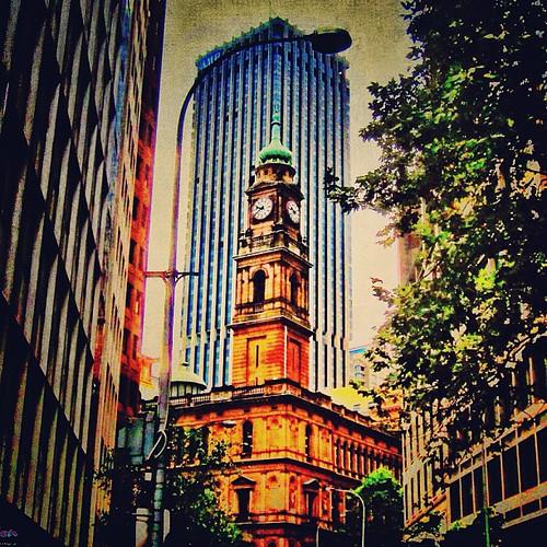 Clock tower #sydney by @MySoDotCom