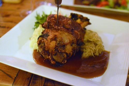 Crispy roasted pork knuckle