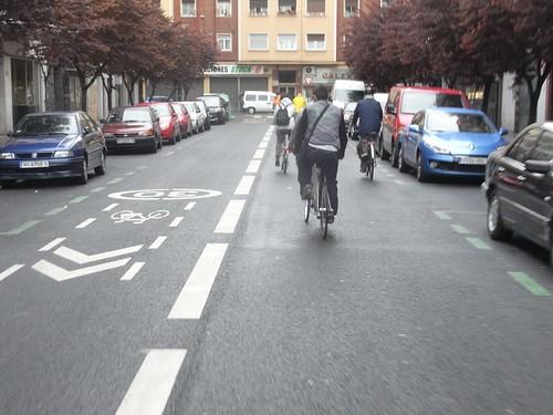 Carril bici en calzada