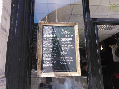 Baowow menu