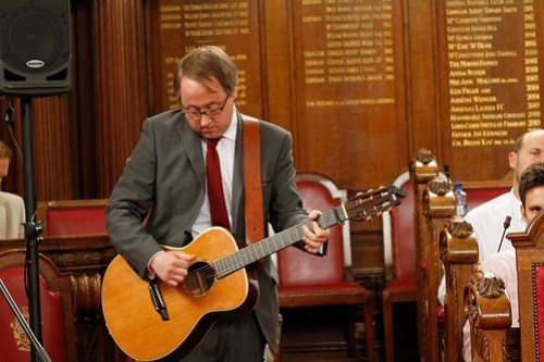 Pete on the guitar