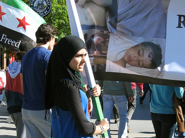 anti Bashar al-Assad demonstration (14-Sept-13)