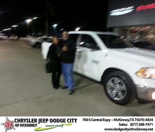 Thank you to Flor Rodriguez on your new 2014 #Ram #1500 from Henry Adologie and everyone at Dodge City of McKinney! #NewCar by Dodge City McKinney Texas
