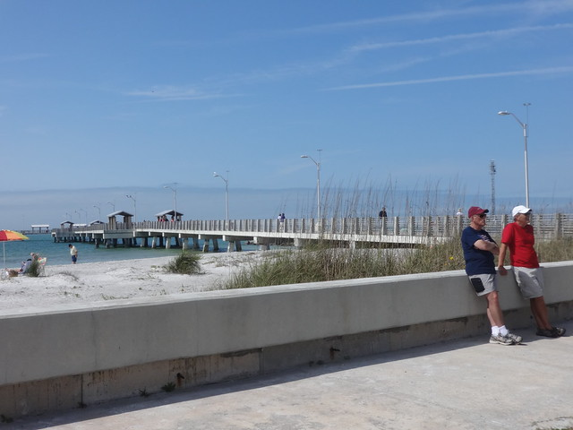 Meeting friends and riding bikes oh the places they go for Fort desoto fishing pier
