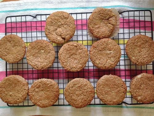 cooling banana bran muffins