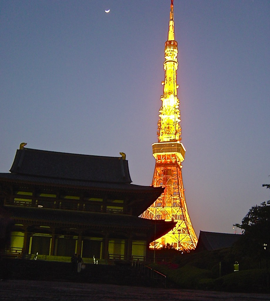 The moon, the shrine and the Tokyo Tower