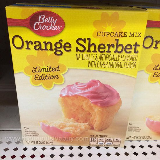 Betty Crocker Limited Edition Orange Sherbet Cupcake Mix
