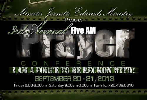 FIVEAM Prayer Flyer by christeneduncan