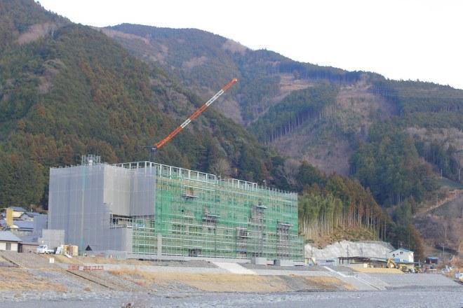 建設中の川根温泉ホテル