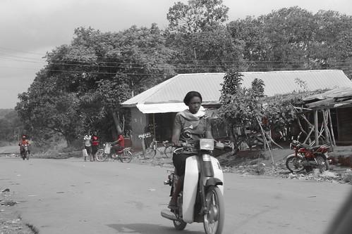 Lady Motorcyclist In Iheaka Village Enugu State Nigeria by Jujufilms