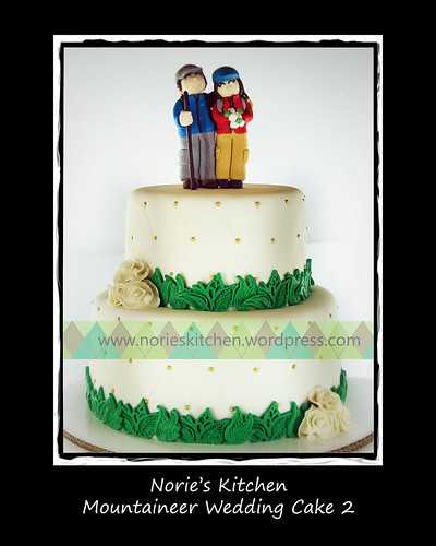 Norie's Kitchen - Mountaineers Wedding Cake 2 by Norie's Kitchen