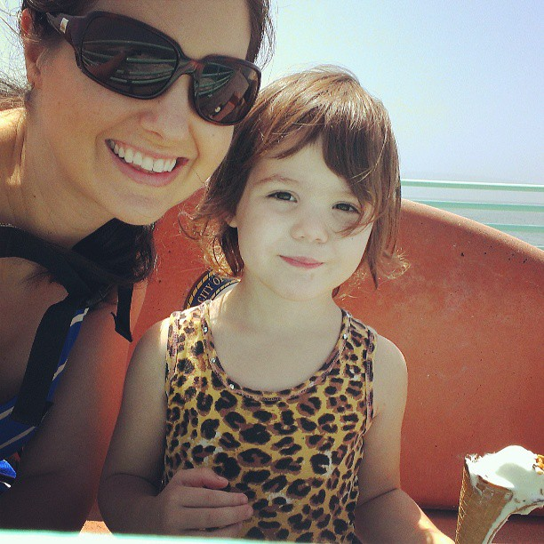 Beach day with the birthday girl! :-)