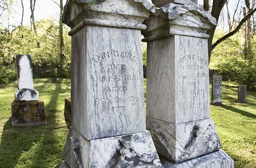 Ann and John Davis, Davis Historical Cemetery, Dublin, Ohio