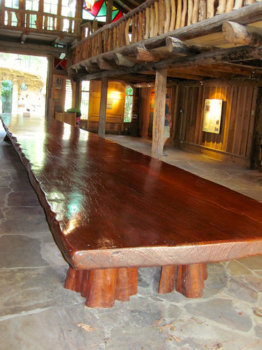 Largest single board Mahogany table 38 ft long!
