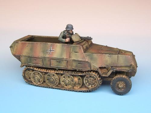 German SdKfz 251/1 Half-Track Miniature