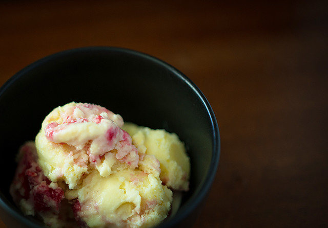 Sweet Corn Raspberry Swirl Ice Cream 2