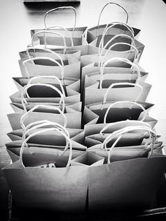 One dozen paper bags