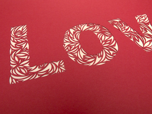 Love- Paper Cut Typography-2