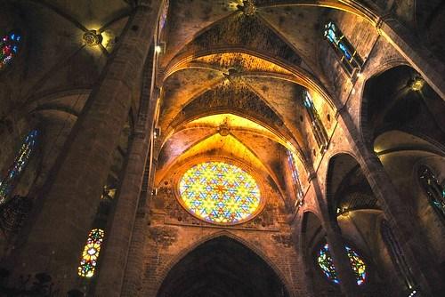 Espectáculo del Vuit en la Catedral de Palma
