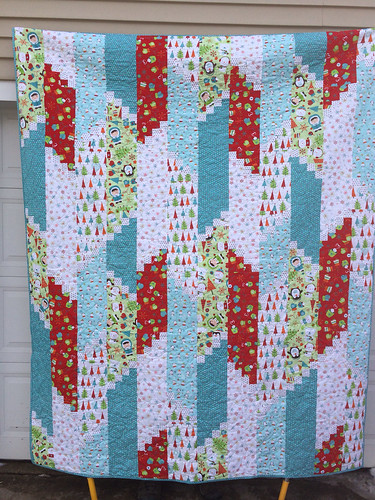 Riley Blake Colorful Christmas in Terry Atkinson's Fire Escape Pattern