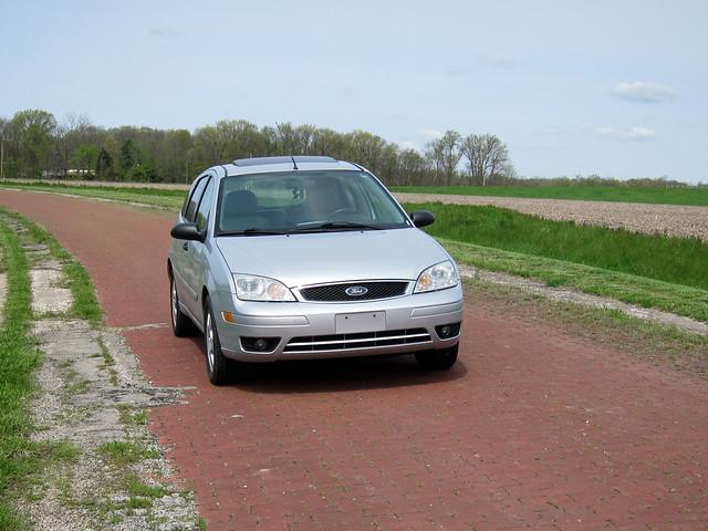 Abandoned brick road