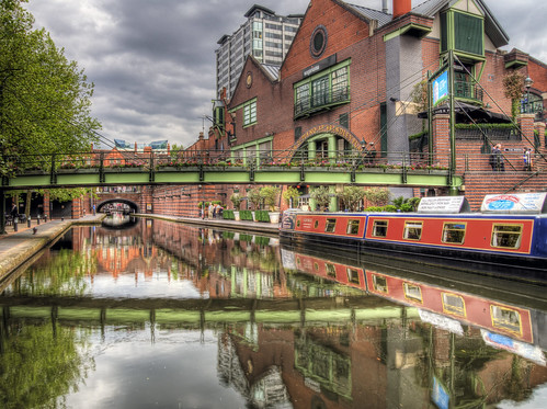 The Canal at Broad Street, Birmingham