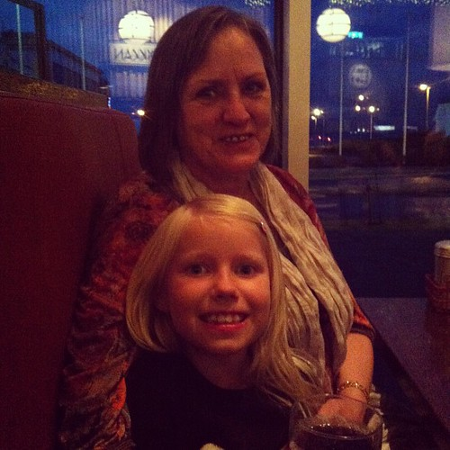 Birthday girl with her grandmother. Karítas is 8 years old today ❤
