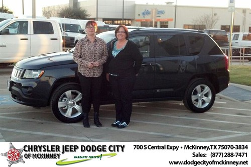 Thank you to Carol Rabb on your new 2014 #Jeep #Compass from Bobby Crosby and everyone at Dodge City of McKinney! #NewCarSmell by Dodge City McKinney Texas
