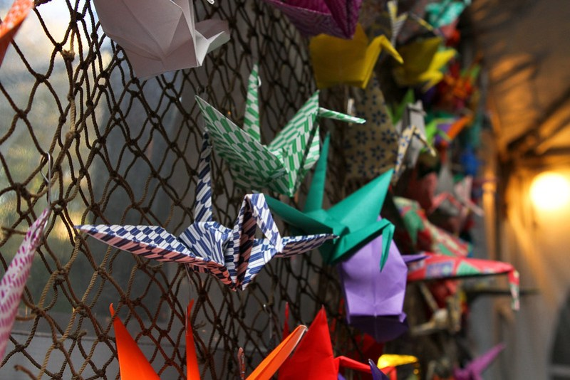 Our big net of origami cranes