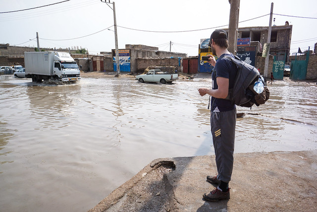 Flooded streets in Ahvaz