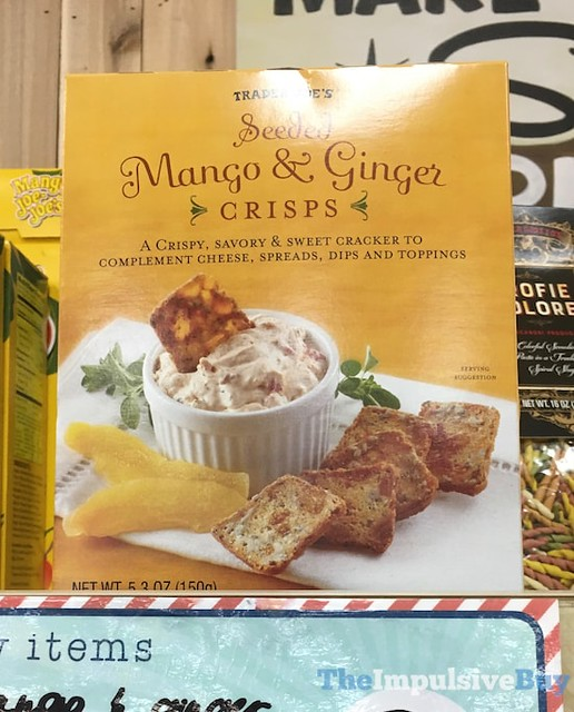Trader Joe's Seeded Mango & Ginger Crisps